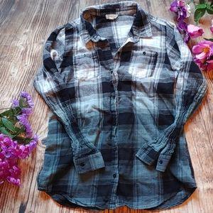 Hayden Girls 11 /12 button down ombre shirt